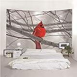 binghongcha Colgante De Pared para El Hogar Loro De Rama 140X210Cm Tapiz De Tela De Poliéster para Dormitorio, Dormitorio, Decoración De Sala De Estar, Fondo De Oficina A3938