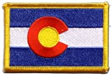Flaggen Aufnäher USA Colorado Fahne Patch + gratis
