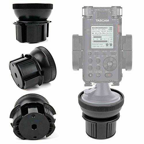 DURAGADGET Base para Soporte para Grabadora Digital Portátil Tascam DR-100MKIII, Tascam DR-22WL, Tascam DR-44WL, Tascam DR-05 V2 - ¡Ideal para Diferentes Tipos De Soporte!