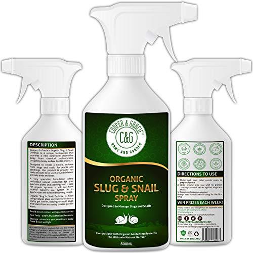 C&G Home and Garden Protección orgánica para plantas de babosas y caracol de 500 ml | No tóxico 100% a base de plantas | Miracle Eco Friendly Disuasión contra babosas
