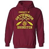Property of Gryffindor Quidditch Team Kapuzenpullover Harry Potter Hogwarts Support Einzelhandelsqualität