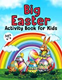 Big Easter Activity Book For Kids Ages 6-9: Great Big Easter Coloring Book funny bunny basket, Word Search, Mazes, Puzzle, Scissors Skill!