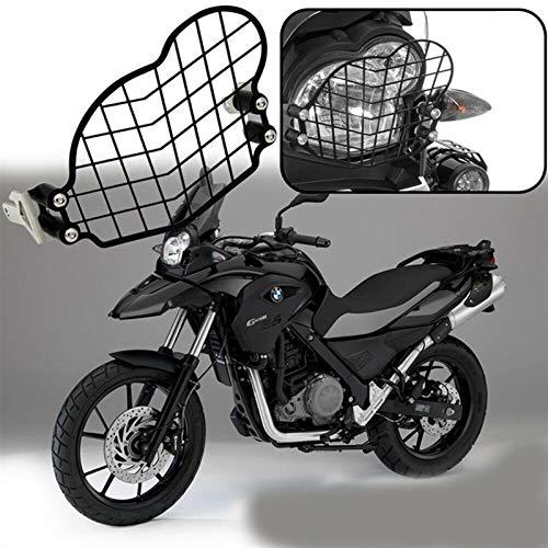 N\A Scheinwerferglas, Front-Lampengrill-Abdeckung Motorrad-Scheinwerferschutzschutz for 2011-2017 (Farbe : Black)