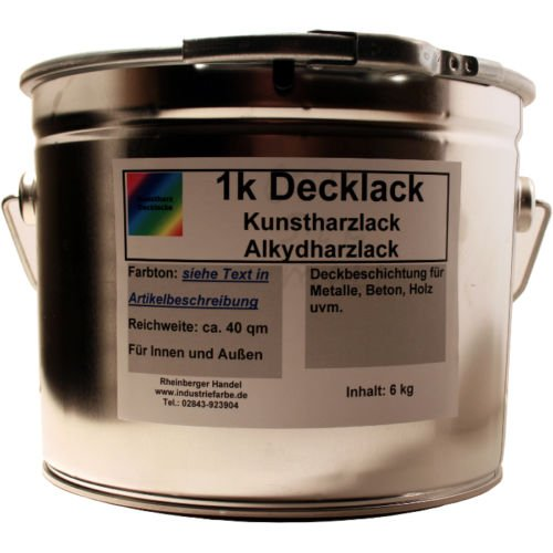 Kunstharz Decklack, Lackfarbe, Acrylharz Lack, RAL 7016 Anthrazitgrau matt, 5 Liter Gebinde