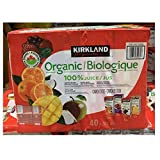 KIRKLAND SIGNATURE カークランドシグネチャー オーガニック100% ジュース 200ml x 40本 KS 100% ORGANIC JUICE BOX