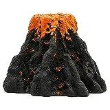 Tuimiyisou Decoraciones del Tanque De Peces, Kit De Adornos De Volcán Acuario, Volcán Acuario Burbuja De Aire Piedra Bomba De Oxígeno Decoración De Adornos Grandes