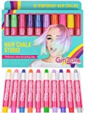Regalo Ragazza - Gessi capelli colorati - 10 gessetti per capelli - Colori temporanei capelli bambini - Trucco capelli bambini - Gesso per capelli bambini