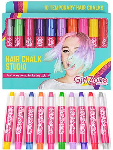Geschenke für Mädchen | Haarkreide-Set für kleine und große Mädchen | 10 x allergenfreie...