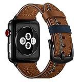 Xialey Bracelet de Remplacement en Cuir pour Apple Watch 38mm 40mm 42mm 44mm Bracelet...