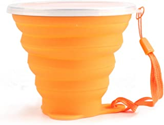 TeaMaX Collapsible Silicone Cup, Travel Camping Cup, Expandable Drinking Cup Set, Folding Mug with lids, Camping Mug with lids