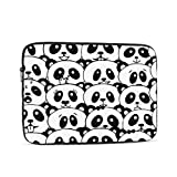 13 Inch MacBook Case Black White Panda from China MacBook Pro Computer Case Multi-Color & Size Choices 10/12/13/15/17 Inch Computer Tablet Briefcase Carrying Bag
