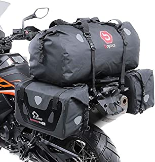 Compatible avec Honda CRF 250 L Paire DE MIROIRS Guidon pour Moto MIROIRS Far Metal Universel Noir Rearview Insert Carbone Attack M.8 DX-SX 10X1.25