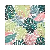 Talking Tables Confezione da 20 tovaglioli di carta foglia di palma tropicale pastello; Tovaglioli usa e getta, stoviglie per compleanni, feste in giardino, estate picnic, safari, hawaiani, decoupage