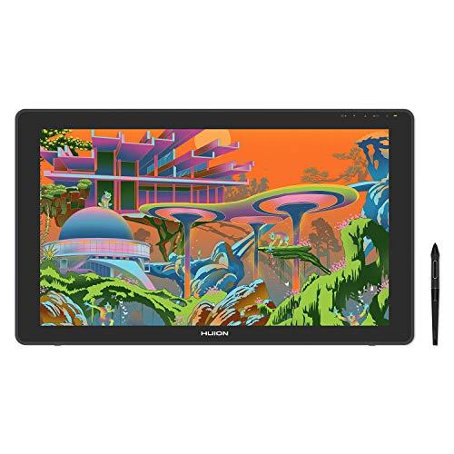 HUION Kamvas22 液晶ペンタブレット2020 色域sRGB カバー率120% Android対応 オンライン授業やテレワークに ペン先の沈み込みを抑えたペンPW517同梱 アンチグレア加工 VESA対応 スタンド付属一年保証