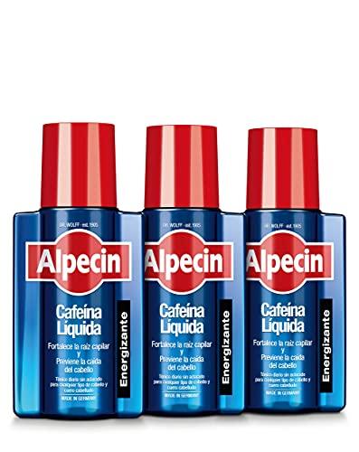Alpecin Cafeina Liquida 3x 200 ml | Locion anticaida cabello hombre | Tratamiento para caida de pelo hombre | Tratamientos contra alopecia areata androgenetica | Producto para evitar caida pelo