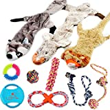 Lobeve Dog Toys Gift Set,Variety No Stuffing Squeaky Plush Dog Toy and...