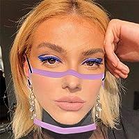 3 pezzi di protezione per il viso trasparente con aperta, mezza per il viso in plastica trasparente per il viso protezione elastica comoda per la bocca, protezione per il viso di sicurezza #2