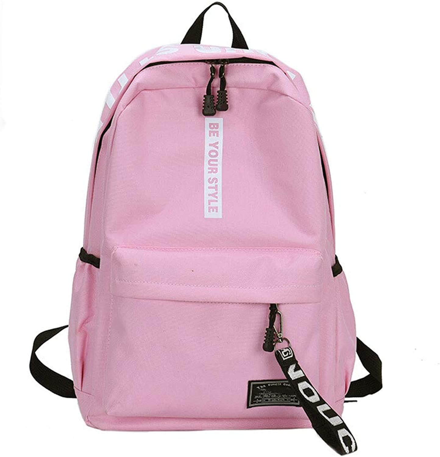 Laptop Bag Waterproof Backpack, Outdoor Travel Climbing Large Capacity Knapsack, Men's and Women's Student School High School Student Rucksack, Leisure Sports Backpack (color   Pink)