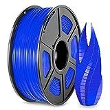 3D Printer PLA Filament 1.75, Blue PLA Filament 1.75mm, Fit FDM 3D Printer, 1KG Spool, Dimensional Accuracy +/- 0.02 mm, PLA Blue