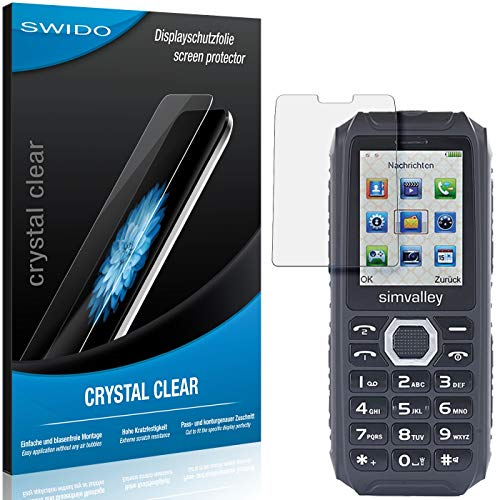 SWIDO Bildschirmschutz für Simvalley Mobile XT-690 [4 Stück] Kristall-Klar, Hoher Festigkeitgrad, Schutz vor Öl, Staub & Kratzer/Folie, Schutzfolie, Bildschirmschutzfolie, Panzerglas Folie