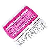 JINSUO NXCY01 30 Agujeros de Punto de Cruz Fila Herramienta de línea Set de Costura Agujas Titular de Seda del Bordado de Hilo Organizador Herramientas de Bricolaje (Color : Pink)