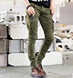 Jeans Pantaloni Jeans da Motociclista in Denim Jeans da Uomo Skinny Skinny Strappati Elasticizzati Slim Hiphop Pantaloni Cargo Militari Lavati XL 423Armygreen