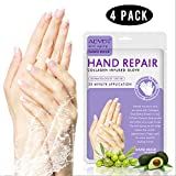 4 Pack Hands Moisturizing Gloves, Hand Spa Mask Infused Collagen, Serum   Vitamins   Natural Plant Extracts for Dry, Cracked Hands, Moisturizer Hands Mask, Repair Rough Skin for Women&Men