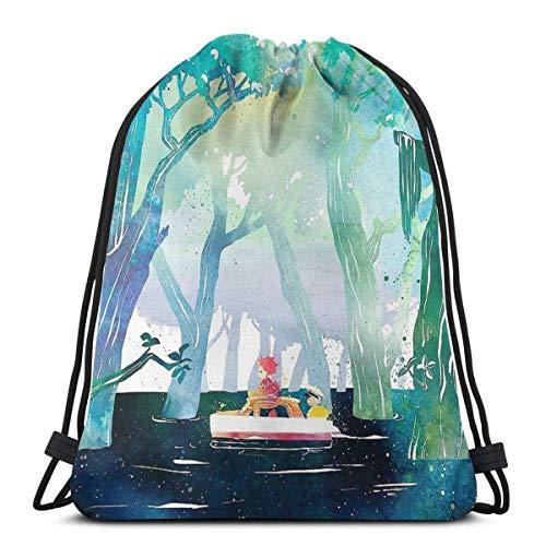 XCNGG Adventure Of A Lifetime Waterproof Foldable Sport Sackpack Gym Bag Sack Drawstring Backpack
