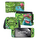 Controller Gear Nintendo Switch Skin & Screen Protector Set - Pokemon - Bulbasaur Evolutions Set 1 - Nintendo Switch