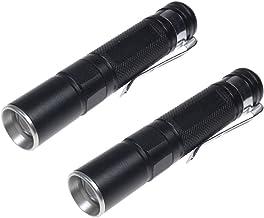 LIOOBO 2pcs Mini LED Flashlight Handheld Pen Light Pocket Flashlights Adjustable Torch Light without Battery