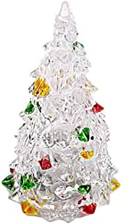 BinaryABC LED Light Up Tabletop Christmas Tree,Mini Xmas Night Light Christmas Ornaments Decoration