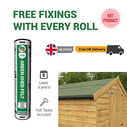 Green Mineral Shed Roofing Felt 8m x 1m roll