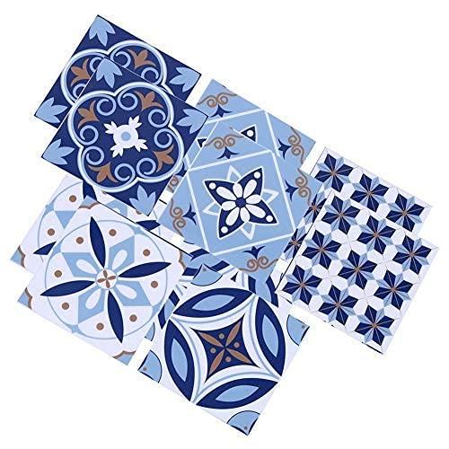 10 piezas impermeable PVC azulejos calcomanías pegatina antideslizante piso arte autoadhesivo pelar etiqueta de la pared para baño cocina protector contra salpicaduras decoración del hogar vinilo