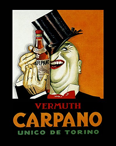 "Vermouth Vermuth Carpano Torino Drink Italy Italia Italian 16"" X 20"" Image Size SHIPPED ROLLED Vintage Poster Reproduction we have other sizes available"