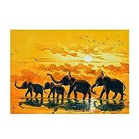 30cm x 40cmの象のワシの猫の馬DIYの部分的なダイヤモンドの絵画針仕事のキットの芸術の技術の家の装飾z071解放される