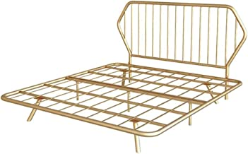 HEMFV Folding Bed Easy Storage Bed Frames Simple Metal Bed Frame, Modern Princess-style Single Bed Sturdy and Durable Eleg...