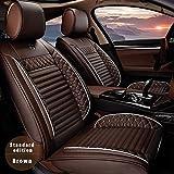 Muchkey 5-Sitze Alle Jahreszeiten Leder Auto Sitzbezügesets Autositzauflage wasserdicht für Audi A1 A3 A4 A4L A5 A6 A6L A7 A8 Zubehör für Autositze Stil A braun