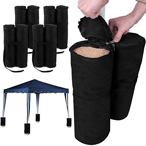 Deuba Zavorre per Gazebo Set di 4 Elementi 2 Sacchi ciascuno riempibili Peso per Tenda Base per Padiglione Giardino Esterno Sacchi per gazzebo