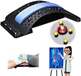 Back Stretcher, Lumbar Back Pain Relief Device Jeteven Multi-Level Back Massager Lumbar for Pain Relief, Herniated Disc, Scoliosis, Sciatica, Lower and Upper Back Stretcher Support