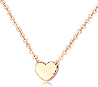 Necklace Jewelry 18K Gold Plated Tiny Heart-shaped Necklace Pendant Necklace   Gold Necklaces For Women Pendant Necklace