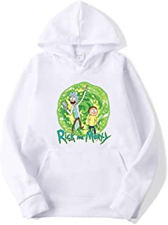 Xjrhbzd Rick And Morty Printing Hedging Sweater Men And Women Casual Hoodie