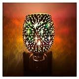 GYW Lampada per Aromaterapia 3D, Bruciatori per Fusione di Cera, Lampada per Fusione di Cera per Aromaterapia Plug-in, Bruciatore A NAFTA Elettrico in Vetro Bruciatore