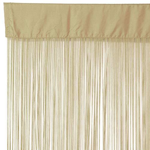 Pflanzen Kölle Fadenvorhang, Polyester, Caramel, 250 x 110 cm