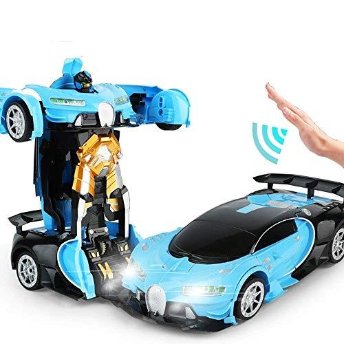 SXLCKJ Robot de Coche de transformación Manual/RC, Robot de deformación de Control Remoto 2 en 1, Juguetes de Coche para niños, deformación por inducción de Gestos V (Coche Inteligente)