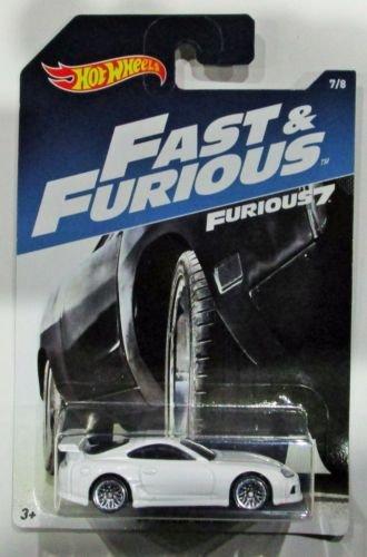HOT WHEELS FAST & FURIOUS '94 TOYOTA SUPRA WHITE FURIOUS 7 RARE CAR 7/8 MOVIE CAR