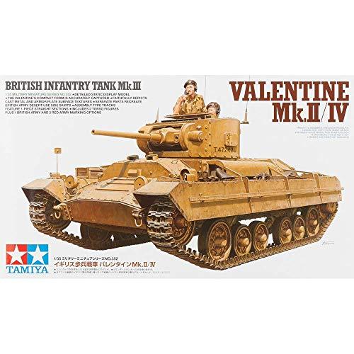 タミヤ 1/35 ミリタリーミニチュアシリーズ No.352 イギリス軍 歩兵戦車 バレンタイン Mk.2/Mk.4 プラモデ...