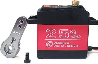 ANNIMOS 25KG Digital Servo Full Metal Gear High Torque Waterproof for RC Car Crawler Robot Control Angle 270°