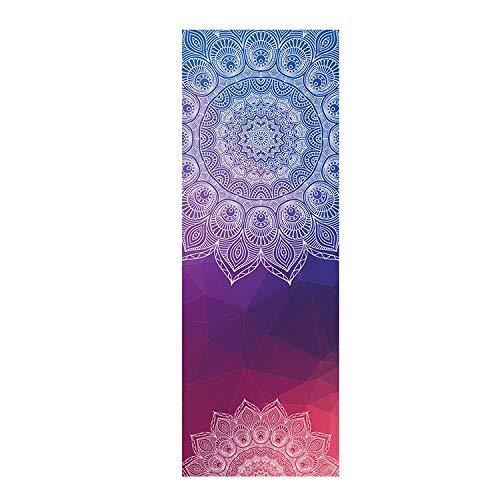 weichuang Pro Yoga Mat Mantas de yoga Mujeres Gimnasio Danza Fitness antideslizante Yoga Mat Impresión Deporte Ejercicio Pilates Entrenamiento Toalla Suave (Color: Azul Cielo)