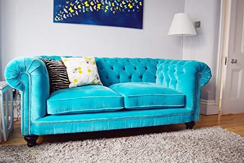 JVmoebel Chesterfield Design Polster Couch Leder Sofa Garnitur Luxus Textil Sofas #141