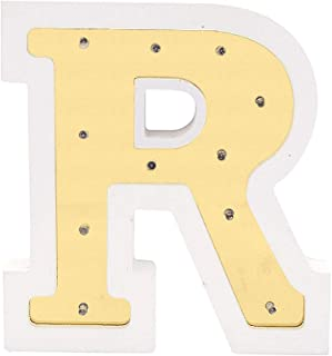 Marquee Letters with Lights - LED Light Up Letters Lights - Vintage Steampunk Styles - Decorative Standing or Hanging Plastic Lamp -Perfect for Events or Home Room Decor (R)